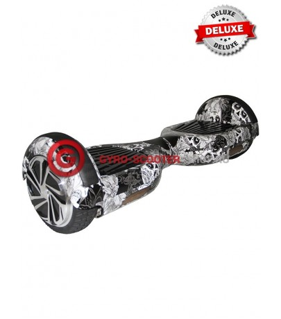 Гироскутер Smart Balance Wheels 6.5 Deluxe-Edition череп с розой